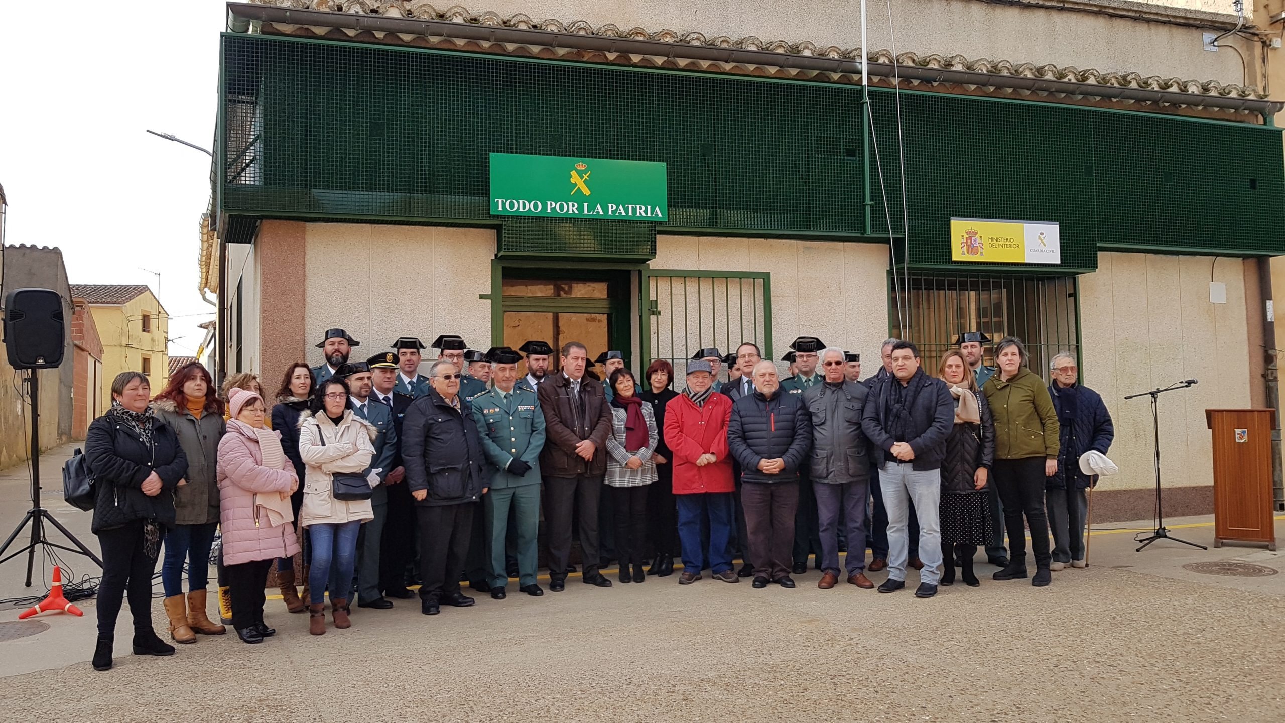 Manganeses de la Lampreana estrena nuevo cuartel de la Guardia Civil