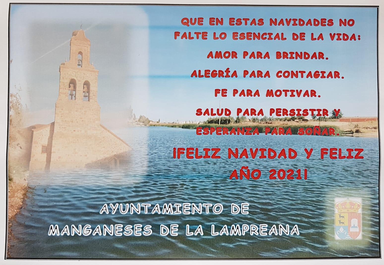 FELIZ NAVIDAD Y FELIZ AÑO 2021. AYUNTAMIENTO DE MANGANESES DE LA LAMPREANA
