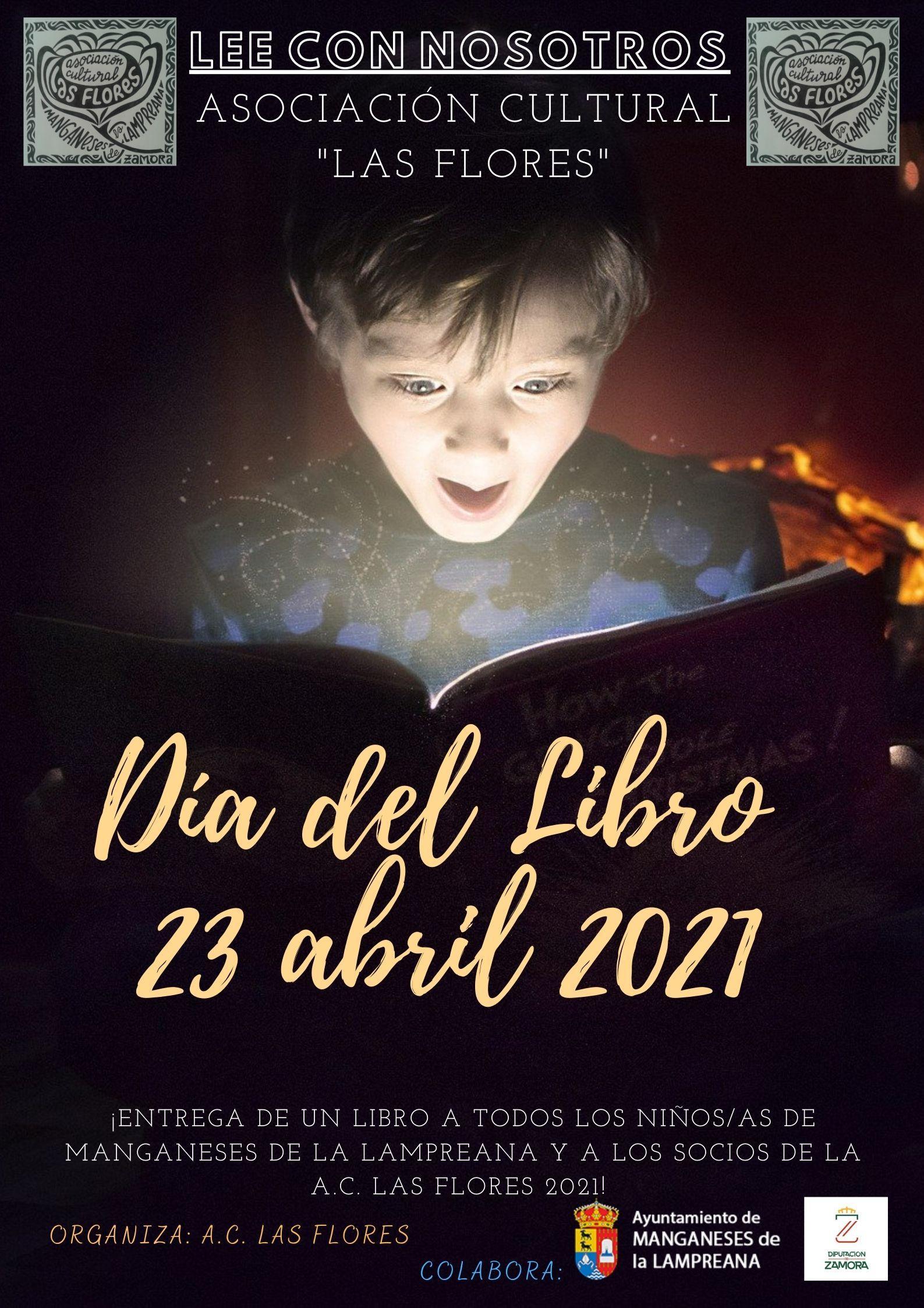 Día del Libro 2021 en Manganeses de la Lampreana. Organizado por la Asociación Cultural «Las Flores».