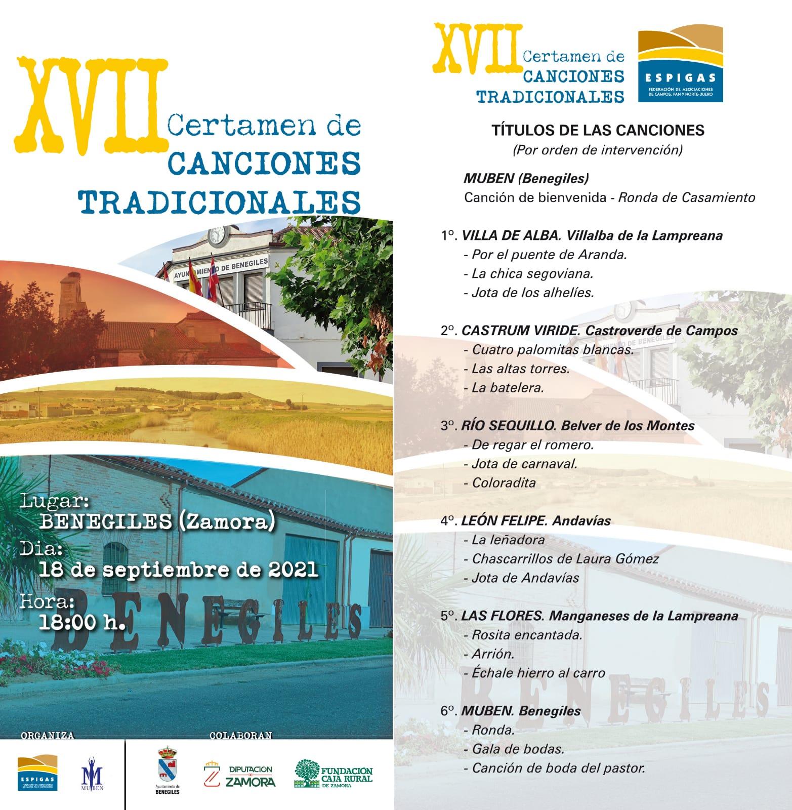 XVII CERTAMEN DE CANCIONES TRADICIONALES